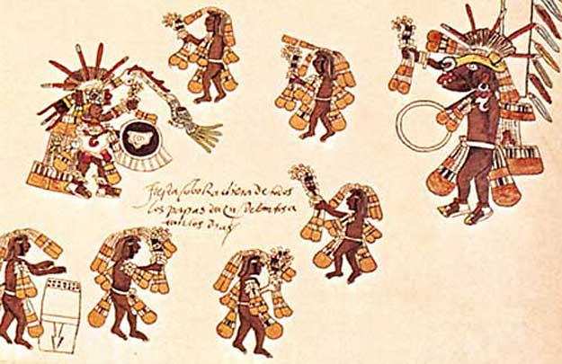 Aztec round dance for Quetzalcóatl and Xolotl
