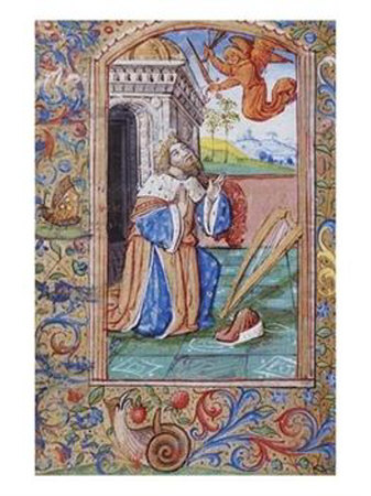 King David at Prayer - Late 15th Century