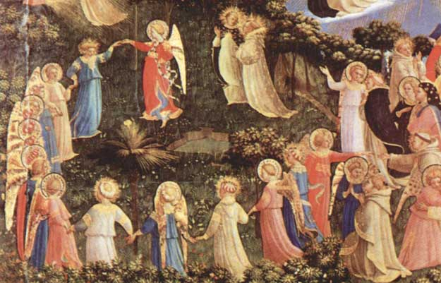 "Detail from ""The Last Judgment"" by Fra Angelico - ""The Dance of the Angels"""