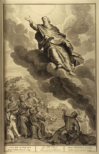 God took Enoch -  Illustrated by Gerard Hoet (1648-1733)
