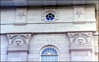Pentagrams on the Nauvoo Temple