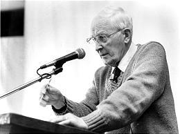 Dr. Hugh Nibley lecturing