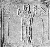 Funeral stele of an Egyptian woman