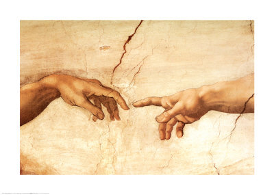 The Creation of Adam (detail) - Sistine Chapel