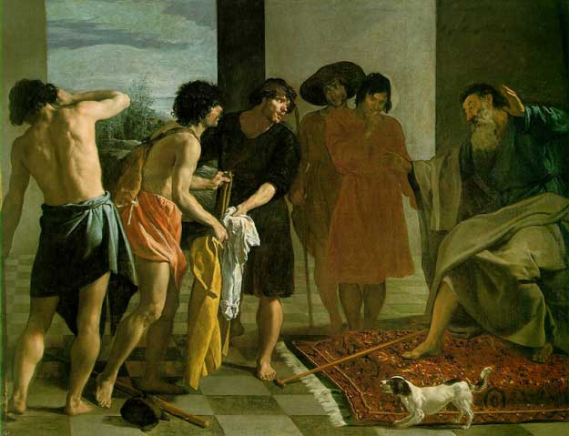 Diego Velázquez, Joseph's Bloody Coat Brought to Jacob; 1630, Oil on canvas, Monastery of San Lorenzo de El Escorial