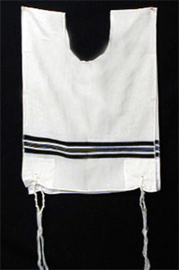 A traditional Jewish tallit katan