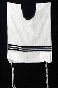 A traditional Jewish tallit katan