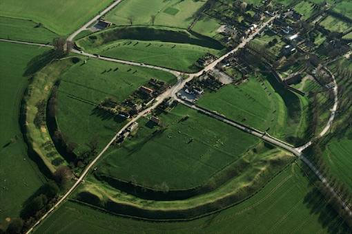 Aerial View of Avebury stone circle
