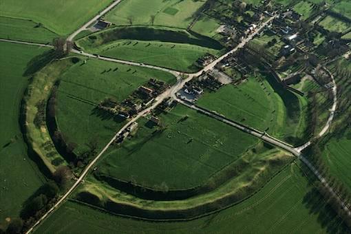 Aerial View of Avebury stone circle