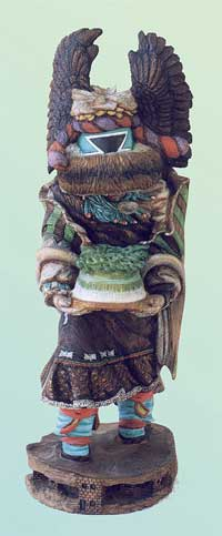Crow Mother - 12 inch tall kachina by Kevin Pochoema &lt;http://www.ancientnations.com&gt;
