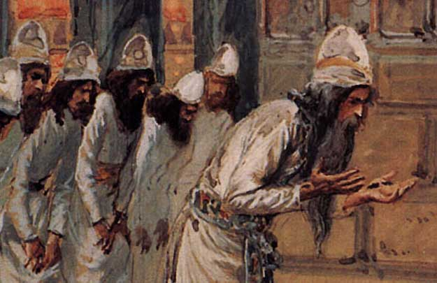 Detail from A Levite Priest holds up Holy Hands - James Tissot (1836-1902)
