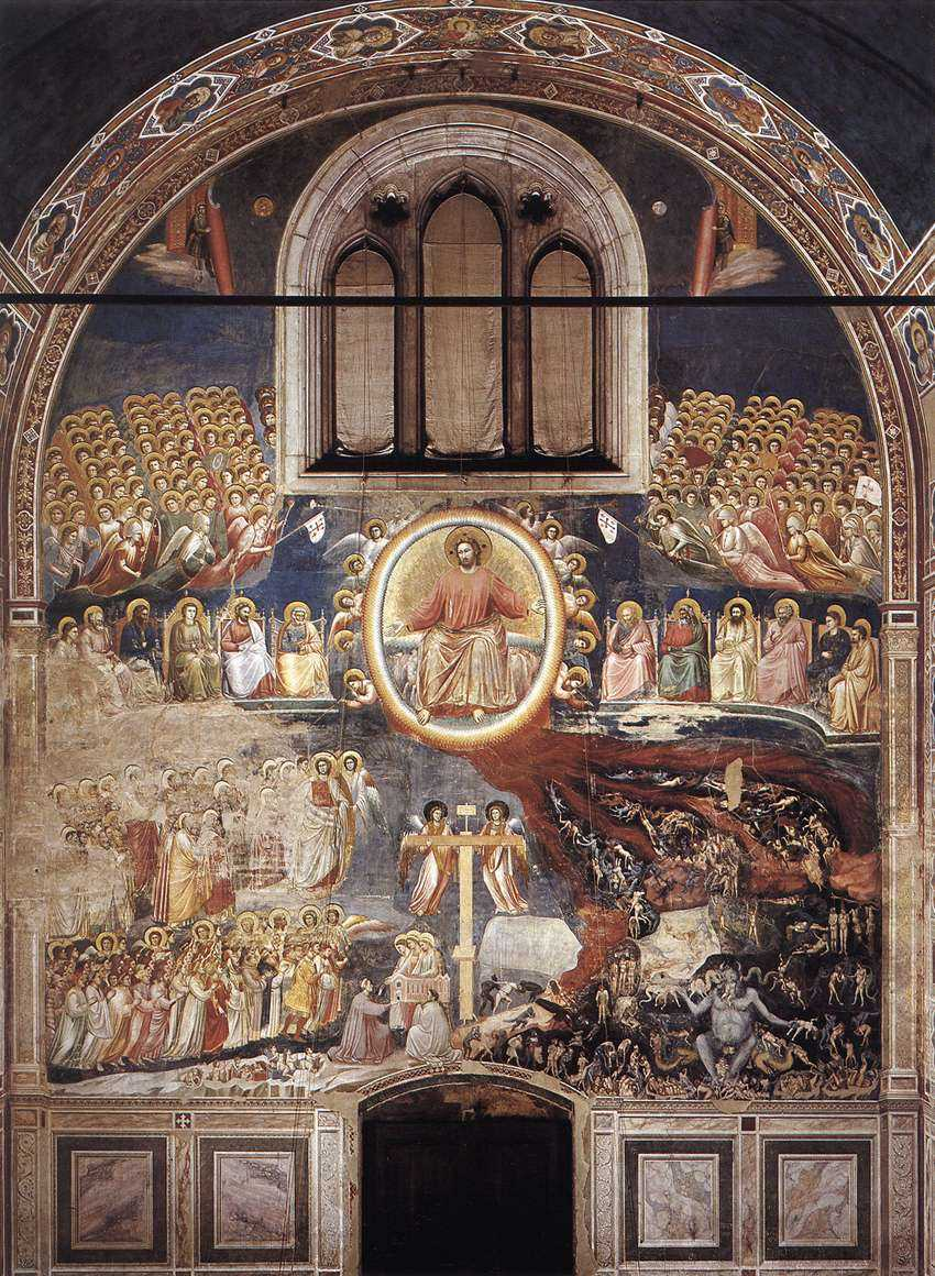 Palm uppalm down in middle ages renaissance christian art last judgment by giotto in scrovegni chapel italy click for larger view biocorpaavc Image collections