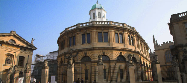 Exterior, Sheldonian Theatre at Oxford University where most degree ceremonies take place - built 1664-1668
