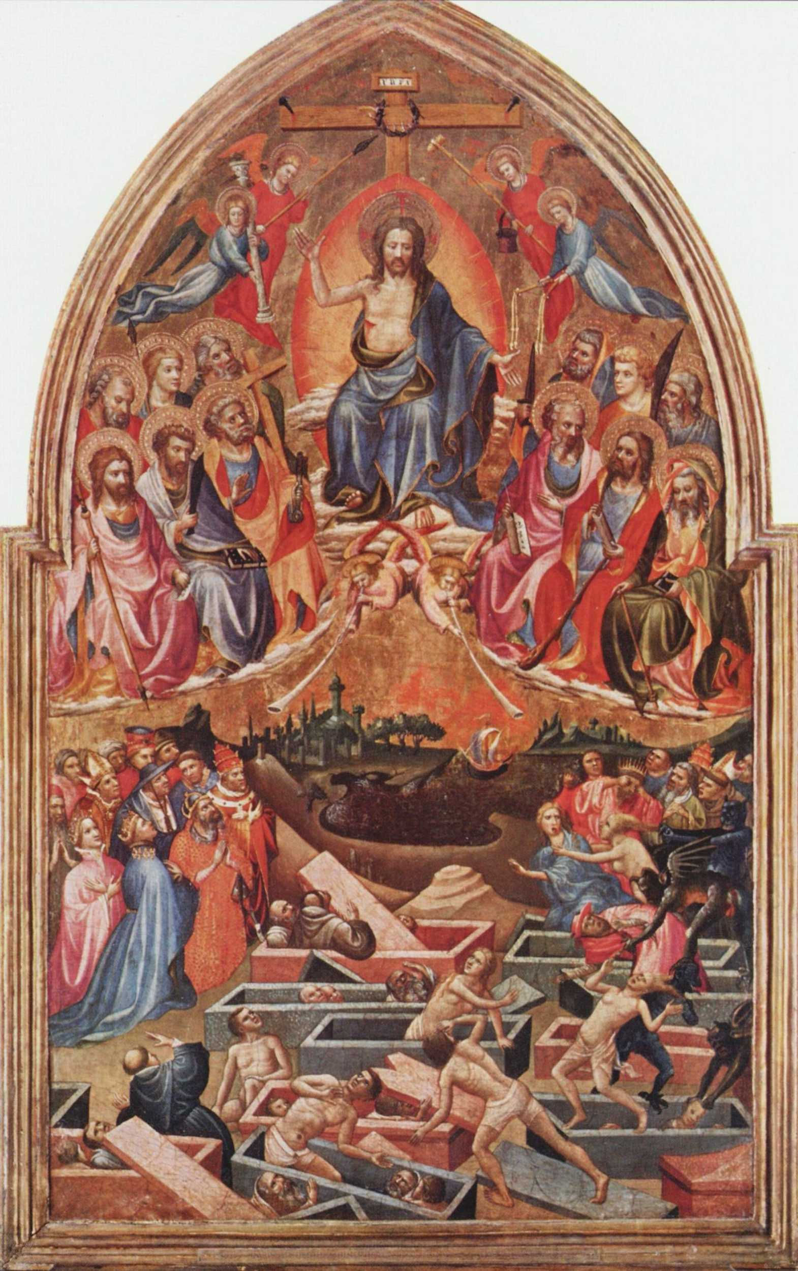 Palm uppalm down in middle ages renaissance christian art the last judgment by the master of the bambino vispo c 1422 biocorpaavc Image collections