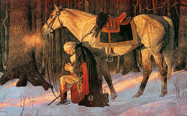 The Prayer at Valley Forge - by Arnold Friberg (1976)