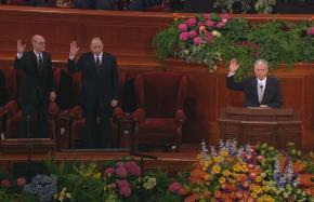 Sustaining Church officers during the solemn assembly of April 2008 General Conference