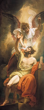 Isaiah's Lips Anointed with Fire - Benjamin West (1738-1820)