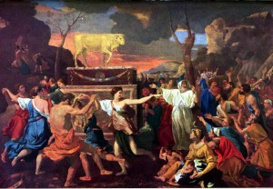 The Adoration of the Golden Calf, Nicolas Poussin, April 1633