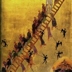 The Ladder of Divine Ascent, Monastery of St. Catherine, Sinai, 12th Century (click for larger view)