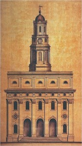 William Weeks Nauvoo Temple architectural plan. (Click for larger view)