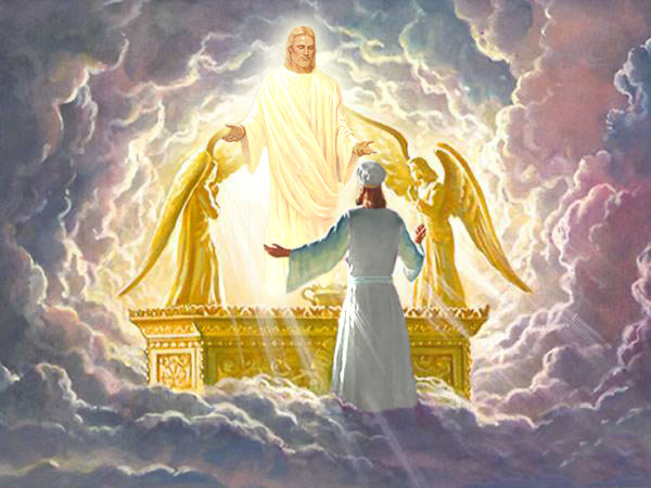 The Israelite high priest sees God face-to-face upon the Ark of the Covenant