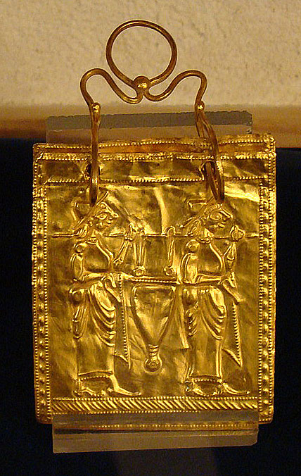 (Etruská Zlatá Kniha pochádzajúca z približne roku 600 pred Kristom)