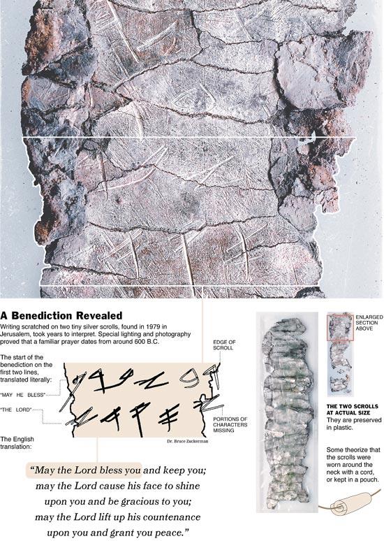 (Strieborné zvitky pochádzajúce z približne roku 600 pred našim letopočtom)