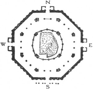 Ground plan of the Dome of the Rock