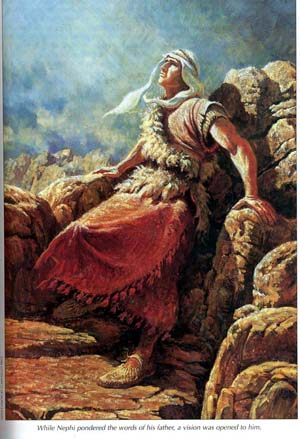"Nephi was caught away in the Spirit to ""an exceedingly high mountain"""