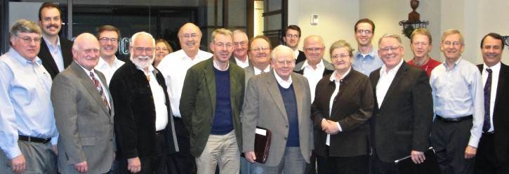 A group that gathered to discuss temple studies on October 28, 2012.  L to R: William Hamblin, Dave Butler, Gary Anderson, Steve Densley, Gordon Thomasson, Debbie Peterson, Daniel Peterson, Laurence Hemming, Le Grande Davies, John Fowles, George Mitton, Jacob Rennaker, Bob Smith, Margaret Barker, Bryce Haymond, Daniel Bachman, Philip Barlow, Jack Welch, Jeff Bradshaw