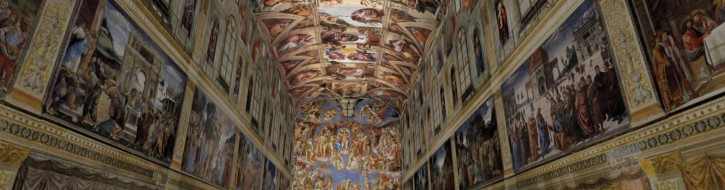 A screen capture of my recreation of the Sistine Chapel in virtual reality.