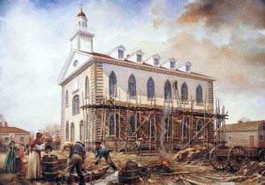 Building the Kirtland Temple. Walter Rane, 2003.